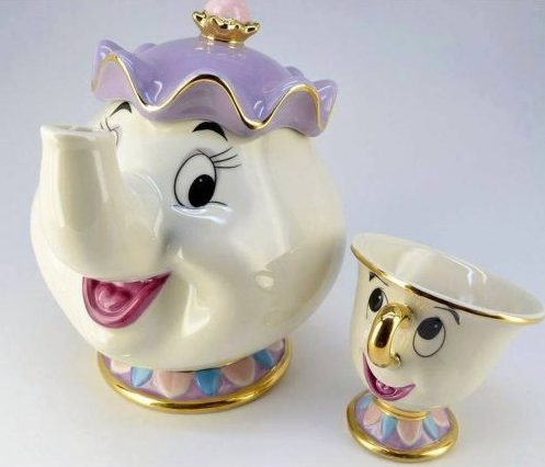 Beauty and The Beast Mrs. Potts Chip Tea Pot & Cup set Teapot Mug