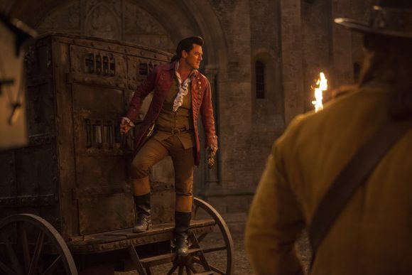 Beauty and the Beast Wagon Scene with Gaston