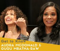Beauty and the Beast's Garderobe & Plumette, Audra McDonald and Gugu Mbatha-Raw #BeOurGuest