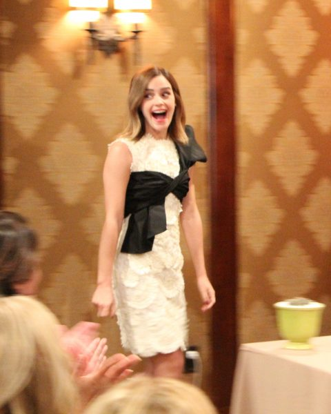 Emma Watson during Beauty and the Beast interview in Beverly Hills, Montage Hotel