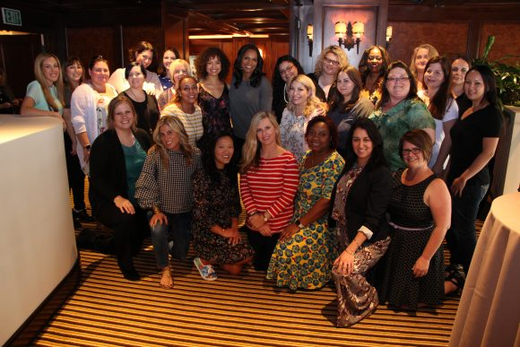 Beauty and the Beast group picture with Audra McDonald and Gugu Mbatha-Raw