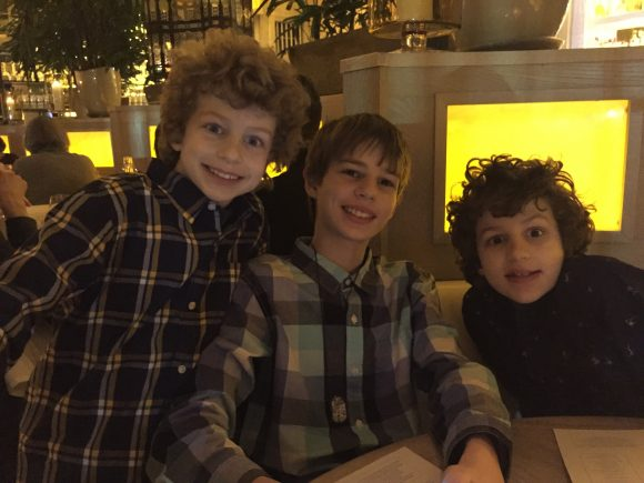 3 boys at Le Club Avenue restaurant in Long Branch, NJ