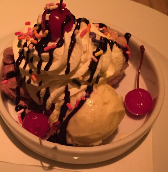 An Ice Cream Sundae from the Le Club Avenue restaurant in Long Branch, NJ.
