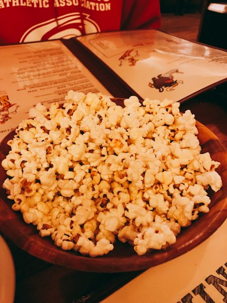 Popcorn at the Chicken Run restaurant in Windham, NY