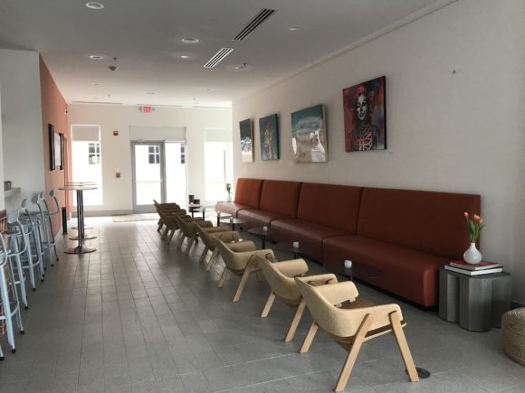 The Bungalounge at the Bungalow Hotel in Long Branch New Jersey offers plenty of seating.