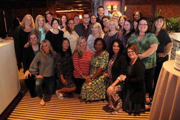 Beauty and the Beast group picture with Luke Evans and Josh Gad