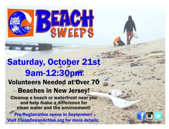 New Jersey Beach Cleanups are Saturday October 21 2017