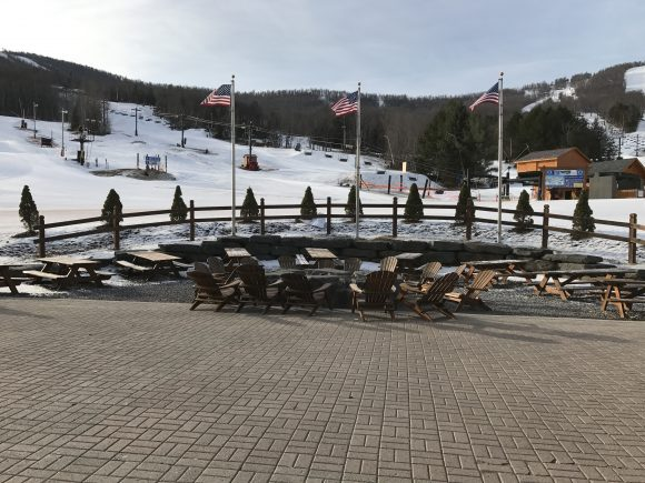Outdoor Seating at Windham Mountain base