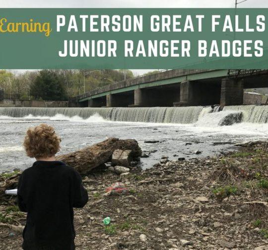 Paterson Great Falls Junior Ranger badges