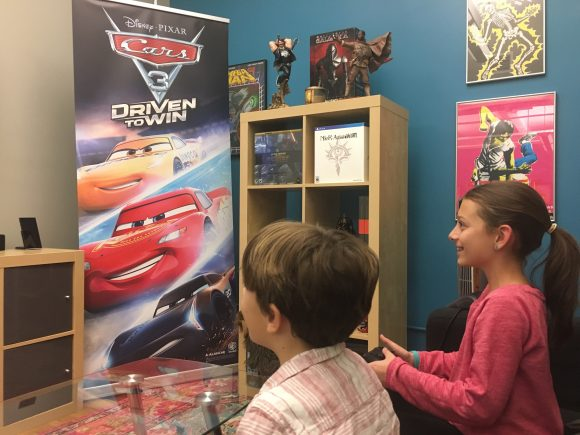 playing Cars 3: Driven to Win, the official video game for Cars 3 movie