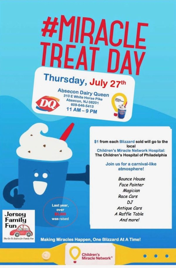 Absecon Dairy Queen Miracle Treat Day