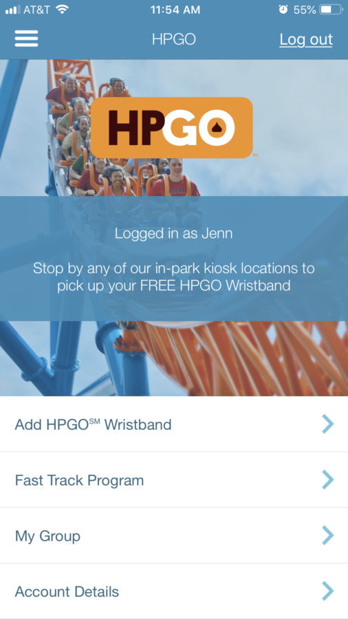 HPGO screenshot in Hersheypark app