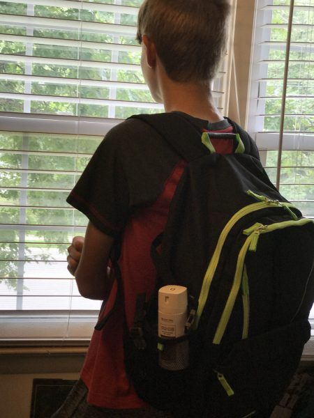 Back to School Tips for Tween & Teen Boys backpack looking out
