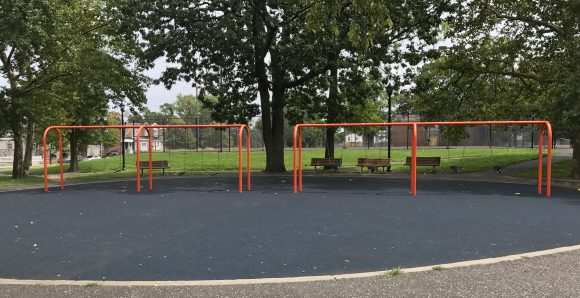 swings at Dudley Grange Park in Camden New Jersey Camden County Parks & Playgrounds