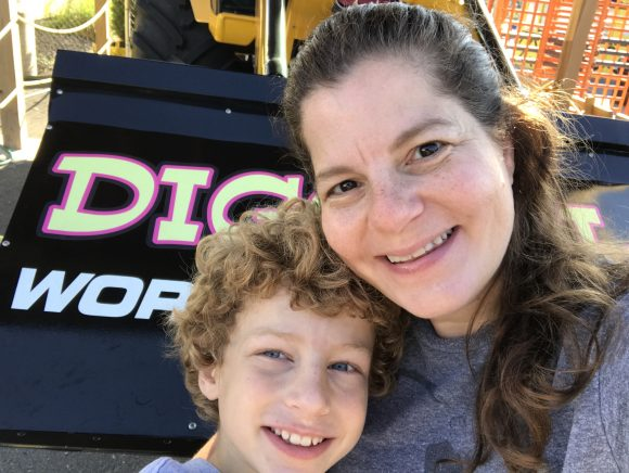 Selfie with m at Diggerland USA in Berlin, NJ