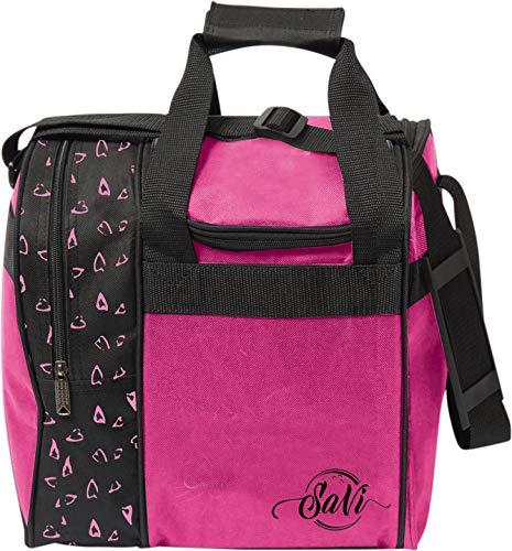 SaVi Pink Hearts Single Bowling Bag for kids