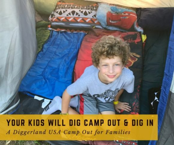 Your Kids Will DIG Camp Out & Dig In - A Diggerland Camp Out for Families