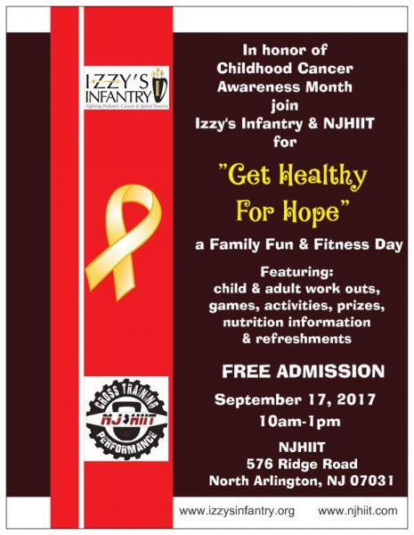 Izzy's Infantry Fighting Pediatric Cancer and Spinal Trauma Family Fun and Fitness Day