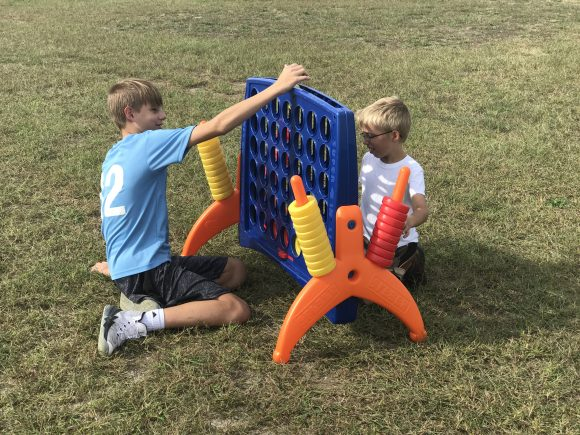Connect Four at Sahl's Father Son Farm in Galloway New Jersey