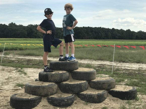 Sahl's Father Son Farm Tire Pyramid