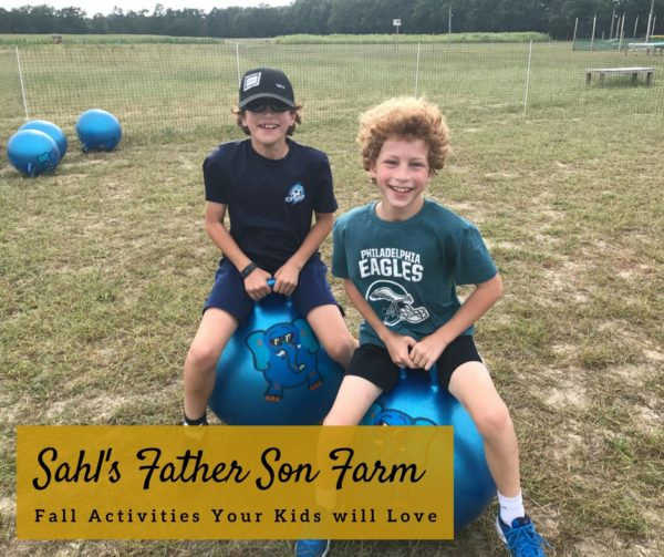 Sahl's Father Son Farm Fall Activities Kids will Love