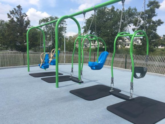 The Silver Lake Park in Belmar has two kinds of expression swings.
