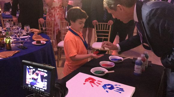 Hyundai Hope on Wheels handprint ceremony