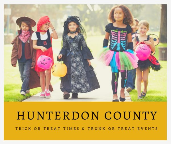 Hunterdon County Trick or Trick or Treat Times