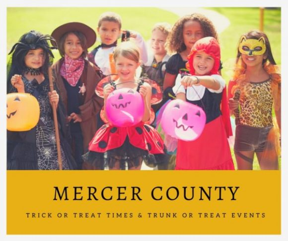 Mercer County Trick or Treat Times