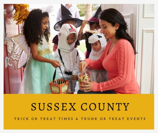 Sussex County Trick or Treat Times