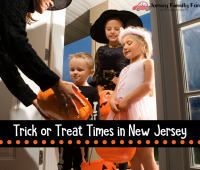 Trick or Treat Times in New Jersey