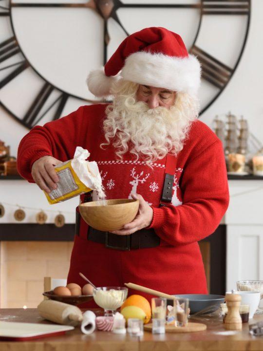 Santa preparing a meal