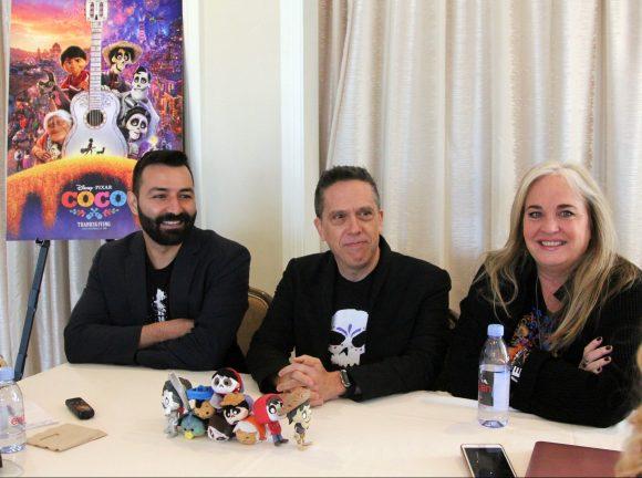 COCO Director Lee Unkrich, Writer & Co-Director Adrian Molina and Producer Darla K. Anderson intervie