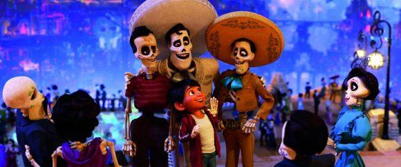 Disney Pixar Coco movie image Miguel with Ernesto De la Cruz