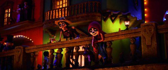 Disney Pixar Coco movie image Miguel with Hector
