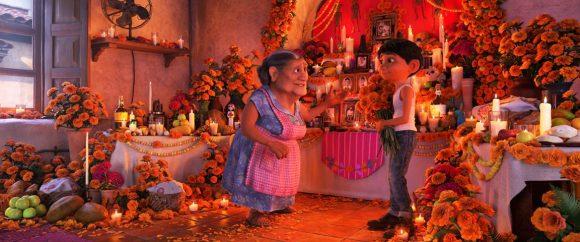 Disney Pixar Coco movie image Miguel with grandma