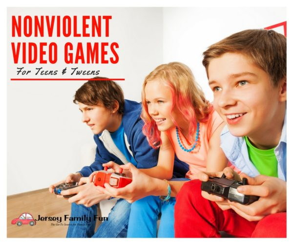 fantastic nonviolent video games for teens tweens jersey family fun