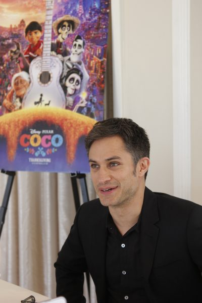 interview with Gael Garcia Bernal, the voice of Hector in Disney Pixar COCO