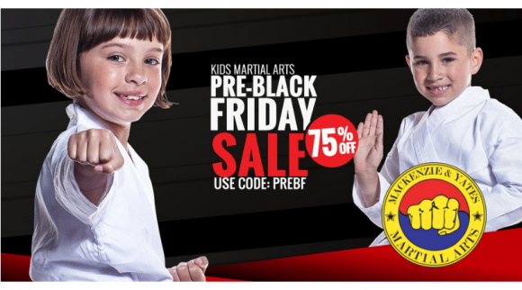 Mackenzie & Yates Martial Arts Black Friday Sale