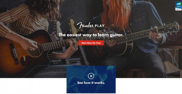 give the gift of guitar lessons with Fender Play guitar lessons at home