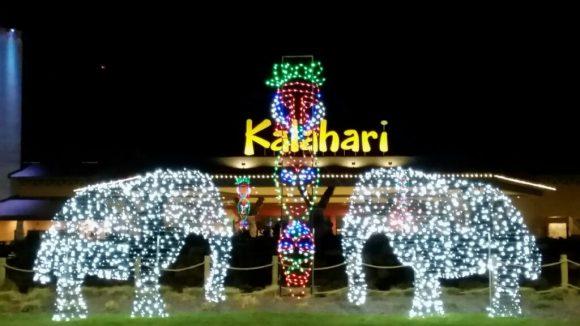 Kalahari Resorts Holiday Activities include beautiful African-themed holiday light displays.