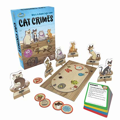 """Cat Crimes: """"Who's to Blame Logic Game"""""""