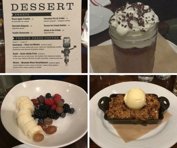 Crystal Tavern Desserts Crystal Springs Resort restaurants