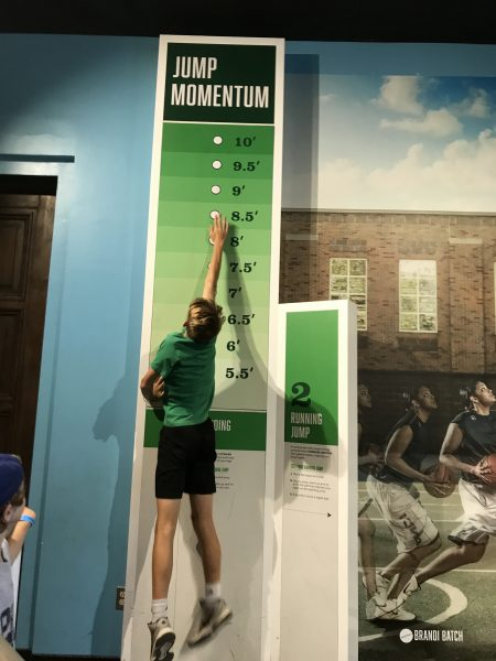 Experiencing the Sport Zone at the Franklin Institute in Philadelphia jump momentum