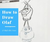 How to Draw Olaf & Olaf's BIG News #OlafsFrozenAdventure
