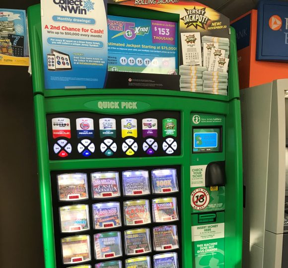New Jersey Lottery Instant Games Machines in Wawa