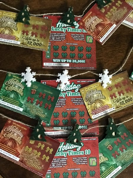 New Jersey Lottery Instant Games - Easy, Quick, & Cheap Teacher Gift Ideas lottery ticket garland