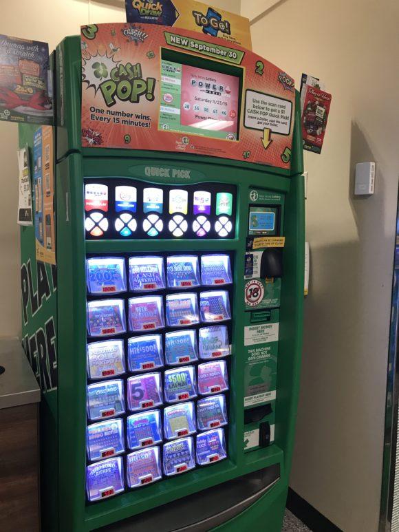 New Jersey Lottery Tickets machine in wawa
