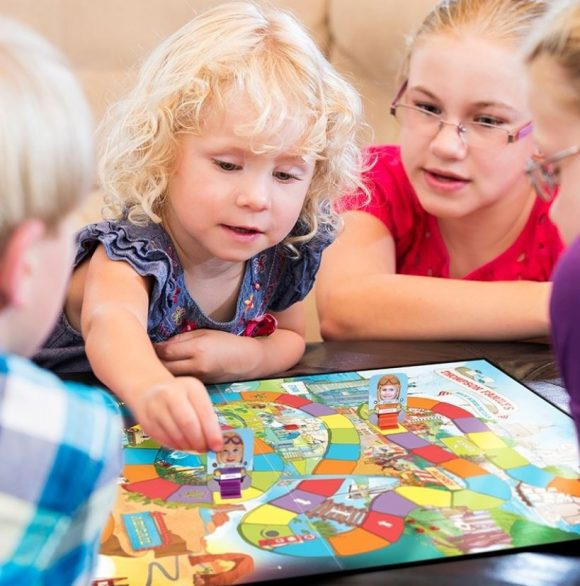 Our Family's Race Across the U.S.A. Board Game