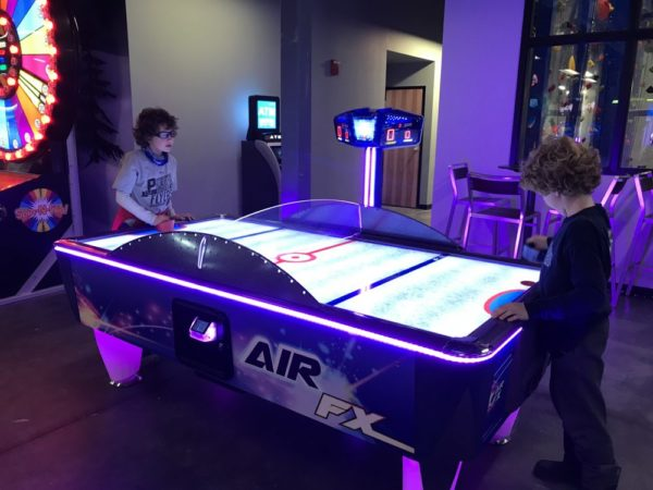 Smugglers Notch Resort Fun Zone air hockey